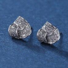Geometric Triangle Twisted Zircon Stud Earrings for Women Brand Geometric Earrings Luxury Shining Earings Wedding Jewelry Z068