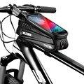 Велосипедная сумка  велосипедная головка  руль  PU  EVA  сотовый мобильный телефон  сумка  чехол  держатель  MTB  сенсорный  водонепроницаемый  дл...