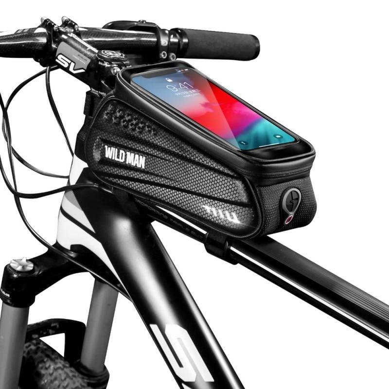 Sepeda Tas Bersepeda Sepeda Tabung Stang PU EVA Sel Tas Ponsel Case  Pemegang MTB Menyentuh Tahan Air Scree Naik|Tas sepeda, & Pannier| -  AliExpress