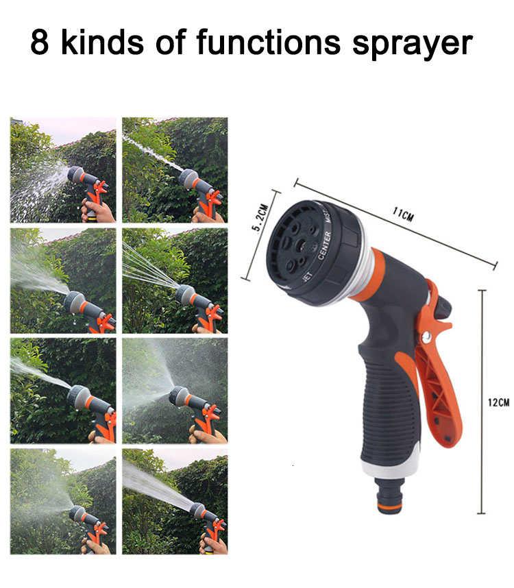 Envío Gratis ampliable tubo de manguera de jardín de agua Flexible manguera Magic Hose manguera riego manguera de lavado de auto de plástico con Spray
