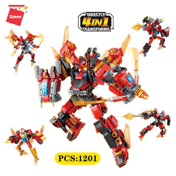 Qman Transformation Robot Action Figure Toys Plastic Robot Cars Model Children Robot Deformation Educational Toy boys for gifts takara tomy transformation mp11 fighter metal part 25cm starscream autobots action figure toys deformation robot children gifts