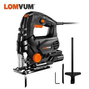 Lomvum serra elétrica para ferramenta, máquina potente de serra elétrica com guia a laser serra de gabarito para metal madeira aço lâminas de cortar madeira