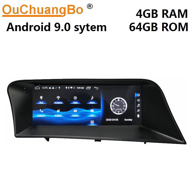 Ouchuangbo car radio multimedia player for 10.25 inch RX RX270 RX350 450H 2009-2014 gps stereo with 8 core 4GB RAM 64GB ROM image