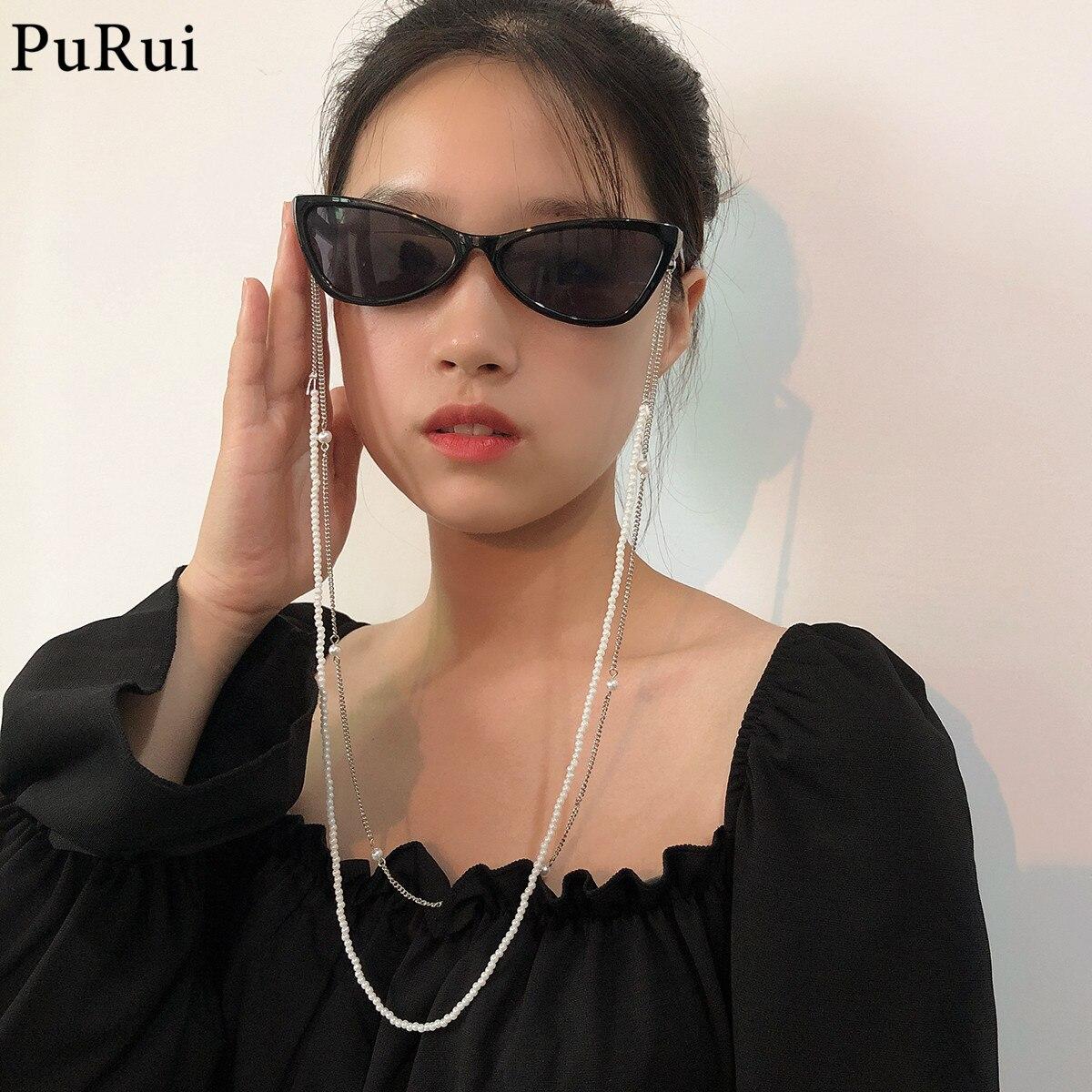 Purui шикарные модные очки с цепочкой, солнцезащитные очки с имитацией жемчуга, цепочка для очков для чтения, шнур, держатель, шейный ремешок