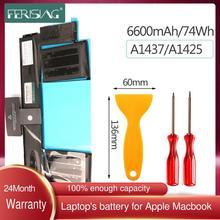 FERISING 74Wh nowa bateria A1437 do Apple MacBook Pro 13 #8222 13 3 #8221 Retina A1425 koniec 2012 r Wczesna wersja 2013 MD212 MD213 bateria tanie tanio CN (pochodzenie) Akumulator litowo polimerowy 1437 A1425(Late 2012 Early 2013) 6 Komórki 11 21V 1437 A1425(Late 2012 Early 2013) Batteries batteria batary Bateria