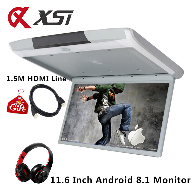 XST 11.6 Inch Android 8.1 Car Ceiling Monitor Mount Roof HD 1080P Video IPS Screen WIFI/HDMI/USB/SD/FM/Bluetooth/Speaker/Game-in Car Monitors from Automobiles & Motorcycles    1