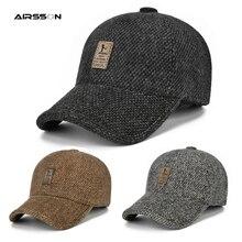 Теплая зимняя бейсбольная кепка, утолщенные хлопковые шапки для мужчин и женщин, регулируемая облегающая Кепка с защитой ушей, уличные велосипедные головные уборы