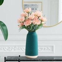 Современная керамическая ваза для цветов позолоченная Снежинка ваза контейнер для посадки воды домашний декоративный подарок на свадьбу с...