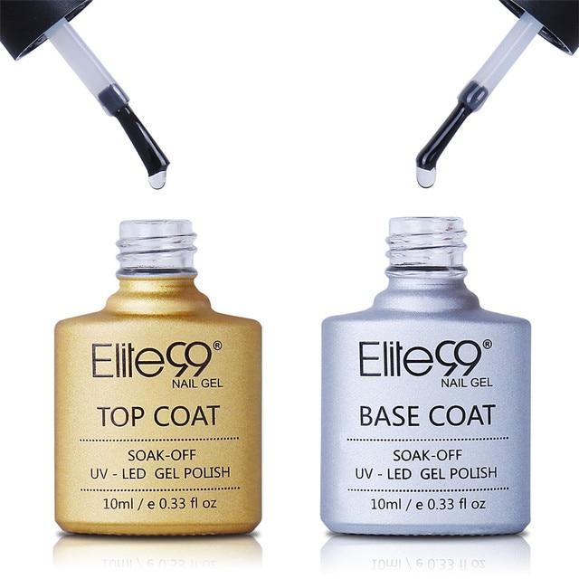 Elite99 Langlebige Kein Reinigen Top Mantel Basis Mantel UV Gel Nagellack Glänzend Sealer Maniküre Set Tränken weg Top basis Nagel Primer 10ml