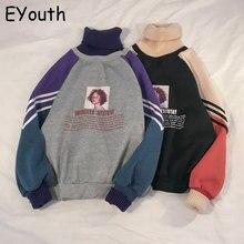 2019 Hoodie Sweatshirt Women Winter Oversize Tops Fashion Pa