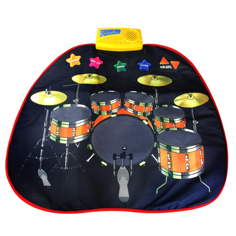 70.5*65cm Baby Early Education Jazz Drum Music Carpet Kids Musical Crawl Mat Chidren's Learning Toy Baby Music Play Carpet Mat