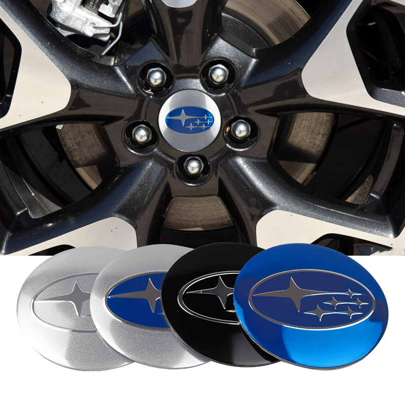 4Pcs 56MM Car Styling Tyre Wheel Center Hub Caps Stickers For Subaru Forester Impreza Outback Legacy Subaru Xv Car Accessories