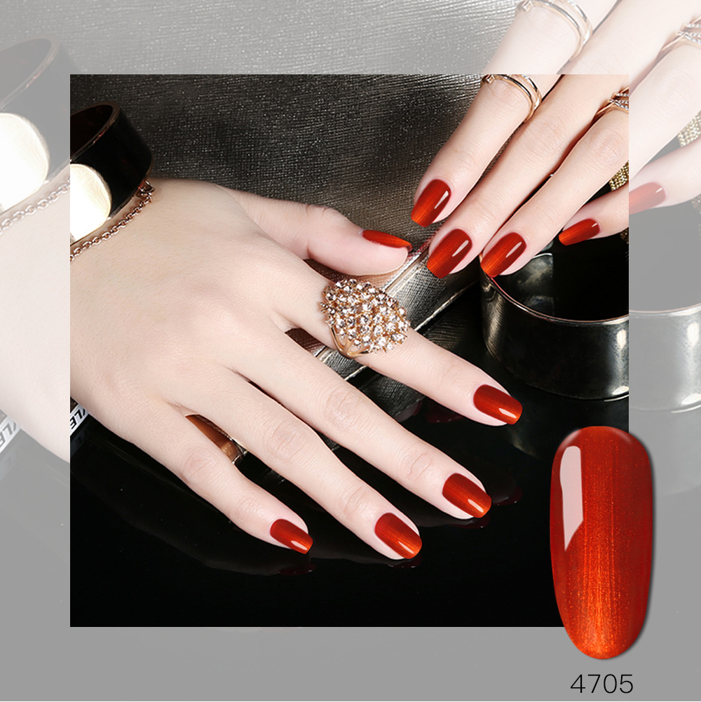 Gel Polonês Wholeset 6 Cor Real Glitter