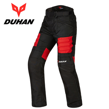 DUHAN DK002 Motorcycle Racing pants Moto Motocross winter trousers Warm Windproof Sports Knee Protective trousers