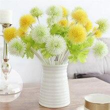 1 Piece Artificial Dandelion Flower 5 Colors Decorative Fake Flowers Grass Ball Plants For Wedding Home Garden Decoration Floral