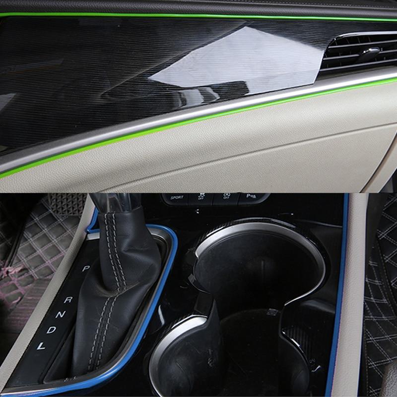 5 м автомобильный Стайлинг интерьер приборной панели панель зазор Гибкая Отделка Литья отделка полосы автомобиля циркуль наклейки DIY авто а...