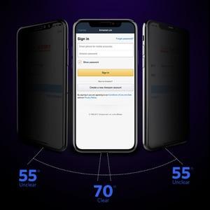 Image 2 - Benks vidrio templado curvo HD antiespía para iPhone, Protector de pantalla de privacidad completo, película frontal doblada, para XS MAX XR, 5,8 6,1 pulgadas