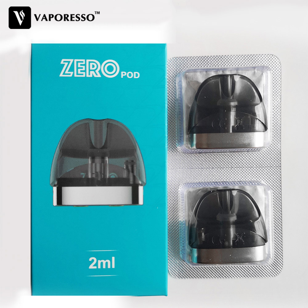 Original Vaporesso Renova Zero Pod With 2ml Capacity And 1.0ohm Coil Head Atomizers Vape Tank For Electronic Cigarettes Zero Kit