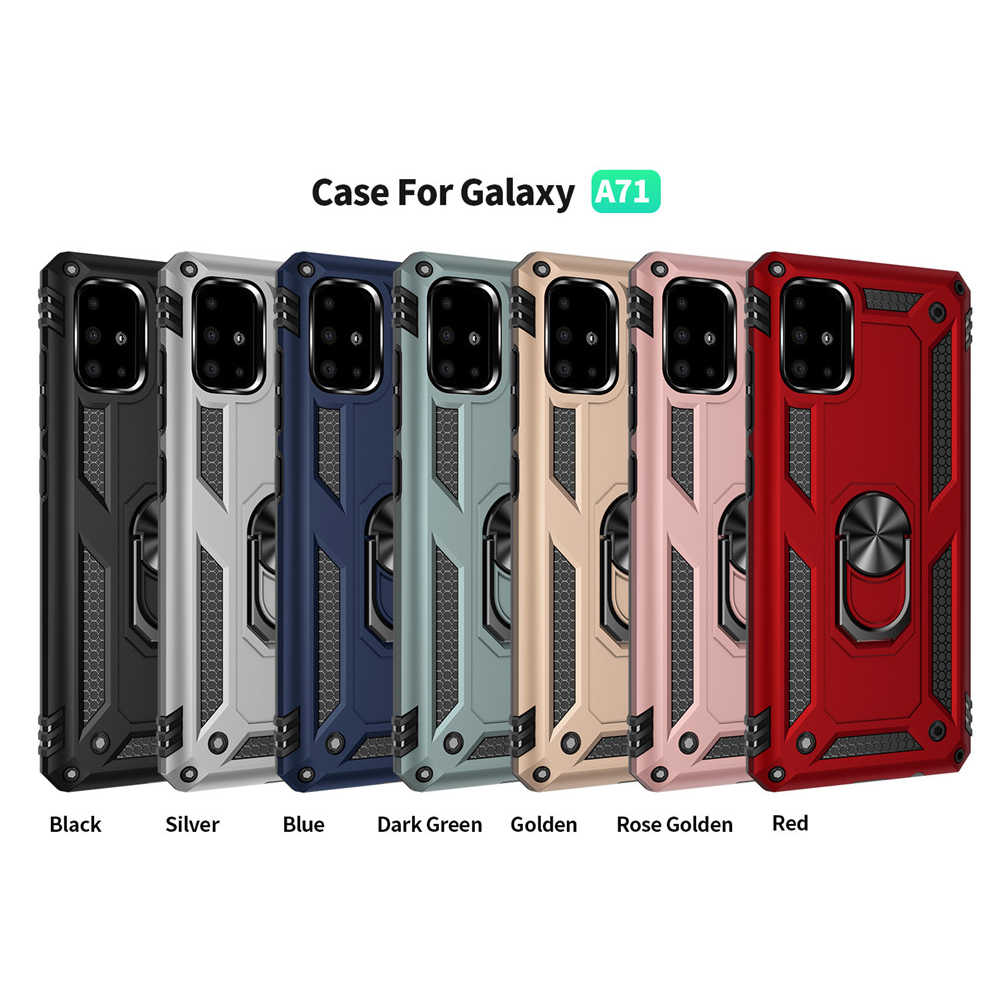 Per Samsung galaxy A71 5G Posteriore di Caso staffa Auto Samsung Galxy A71 5G Cassa Del Telefono Per Samsung A71 5G Della Copertura Della Cassa