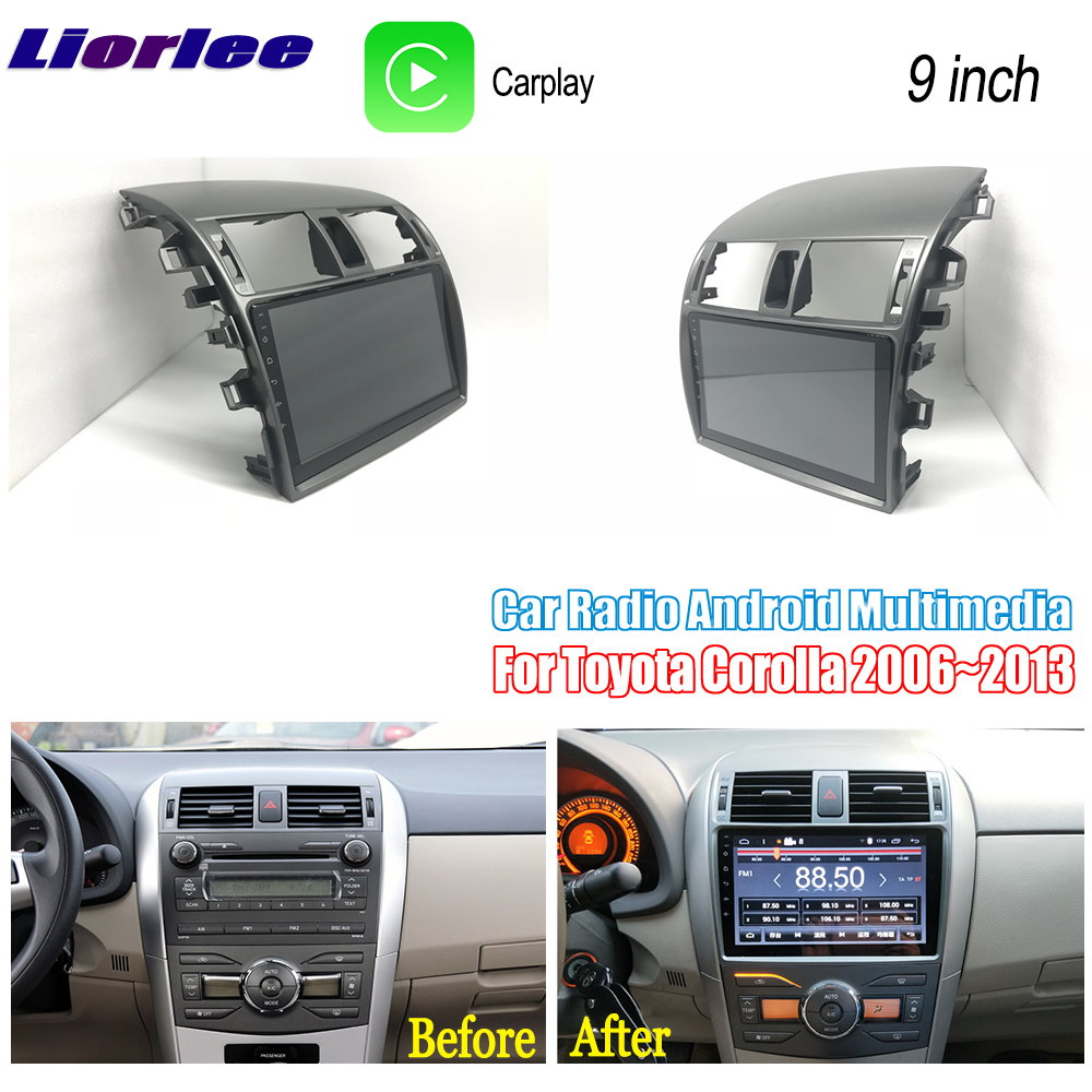 Liorlee For <font><b>Toyota</b></font> <font><b>Corolla</b></font> <font><b>E140</b></font> <font><b>E150</b></font> 2006-2013 Car Android Multimedia GPS Navigation Player Radio Stereo HD Screen image
