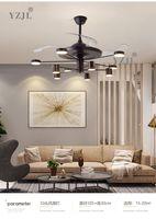 Nordic chandelier light luxury living room lamp chandelier fan dining room fans modern minimalist chandelier lamp fan