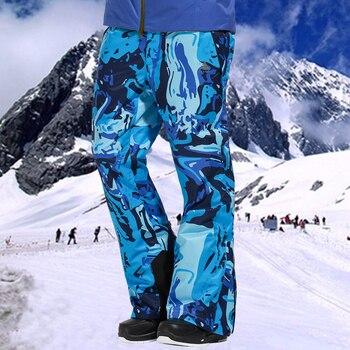VECTOR Professional Winter Ski Pants Men Warm Windproof Waterproof Snow Skiing Snowboard Pants Outdoor Winter Trousers HXF70016 gsou snow brand ski pants men snowboard pants pofessional skiing pants winter outdoor sport snowboarding clothing snow trousers