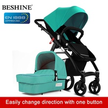 Four Wheels Baby Stroller 2 in 1 Light Folding Push Cart Portable Trolley Umbrella Pushchair Buggy Jogger Travel System For Kid