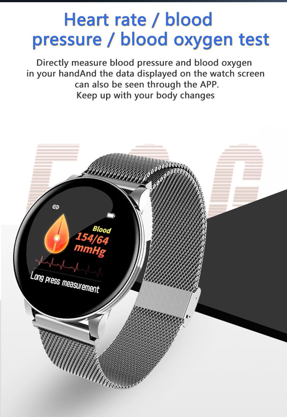 H3105bb60009a4191b801550cc1bcf54fG BINSSAW Couples Smart Watch Kid Heart Rate Blood Pressure Dynamic Fitness Tracker Wearable Electronics Devices Smart Sport Watch
