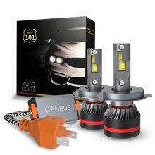 Route101 H4 LED Headlight Bulb Canbus Error Free HB2 9003 6000K Hi/Lo Conversion Kit for Auto 12v 24v Car Light Lamp