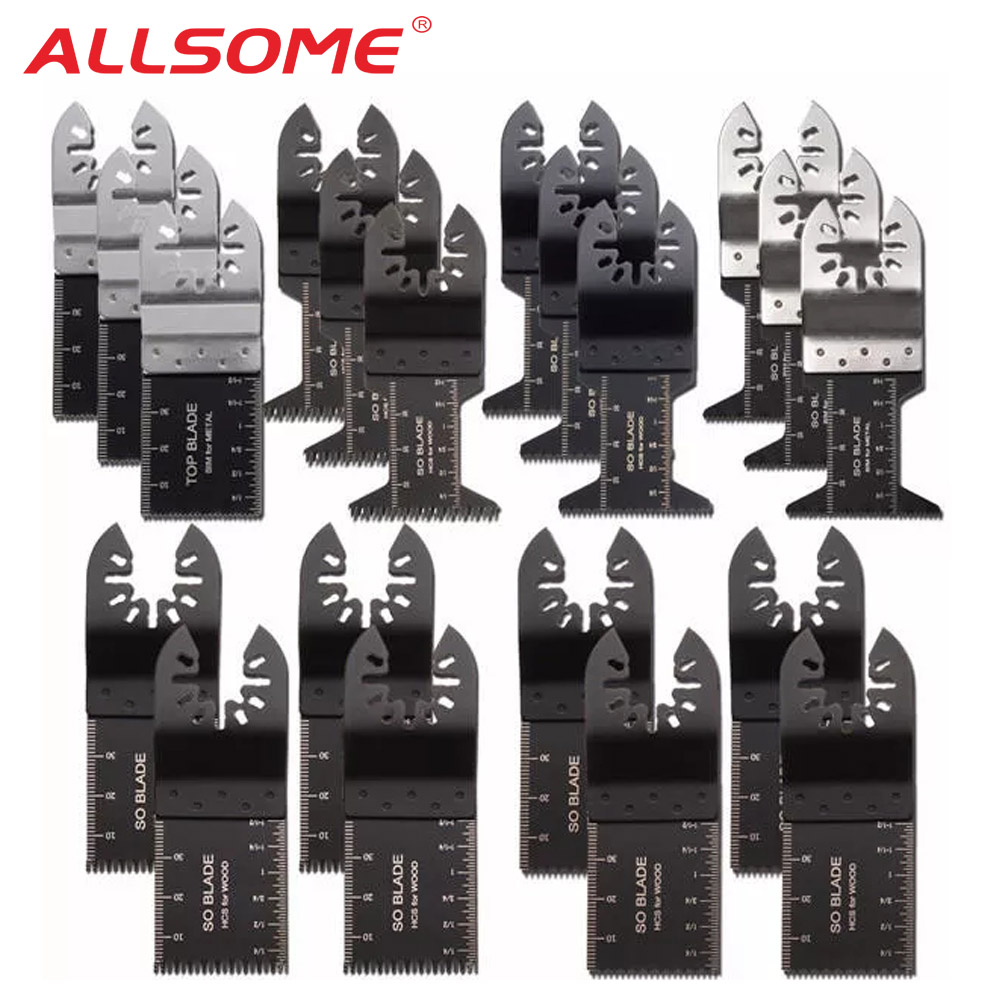 ALLSOME 20pcs Oscillating Multitool Saw Blades For Fein Multimaster Makita Bosch Oscillating Tools HT2806