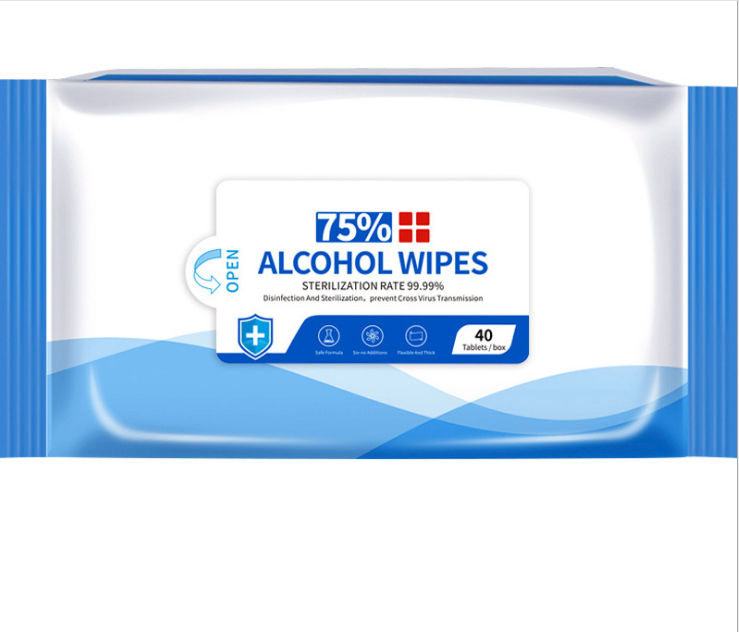 40tables/box Alcohol Wipes Wet Paper Prevent Cross Virus Tranmission Care Your Health Hand Cleaning