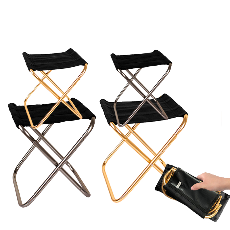 Folding Camping Chair Fishing Chair Lightweight Picnic Chair Foldable Aluminium Outdoor Portable Easy To Carry Fishing Tools