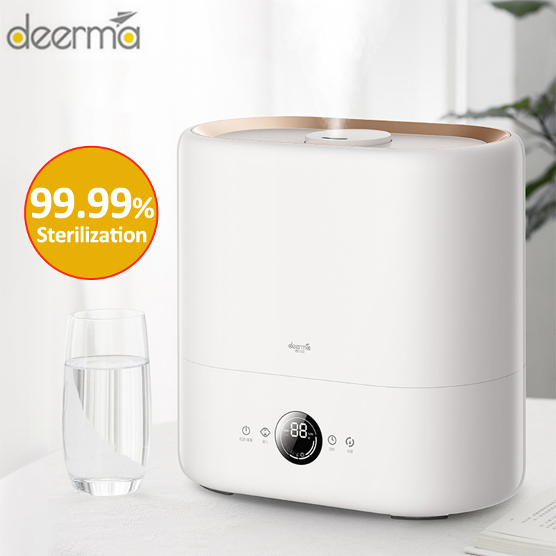 Newest Deerma DEM - ST636 Sterilization Air Humidifier Cool Mist Aromatherapy Diffuser UV-C Lamp Sterilization 4.5L Humidifier
