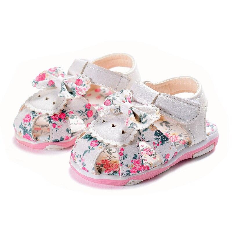 Кожаные сандалии для девочек, мягкие детские сандалии с цветами, Размер 15 25, лето 2020 Сандалии      АлиЭкспресс