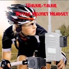 Walkie Talkie จักรยานชุดหูฟังบลูทูธกีฬาหมวกกันน็อกจักรยานไร้สายหูฟังสำหรับ Hytera Motorola Baofeng Kenwood