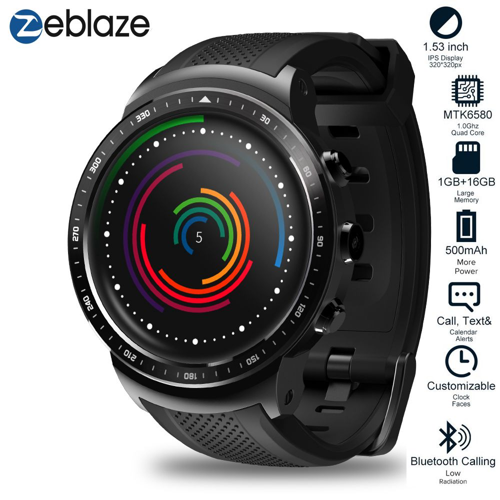 Zeblaze ThOR PRO 3G GPS WIFI Smartwatch Android 5.1 MTK6580 Quad Core 1GB 16GB 2.0  Camera Heart Rate Monitor Smart Watch
