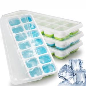14 сеток Силиконовый Лоток с формой для кубиков льда с прозрачной крышкой для приготовления Фруктового мороженого Форма для морозильника ...