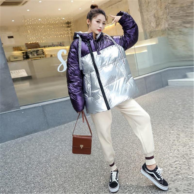 Bright face Cotton Clothes ladies 2019 Autumn Winter New Korean   Down   Jacket Girls Parkas Women Short Hooded   Down     Coats   XA190