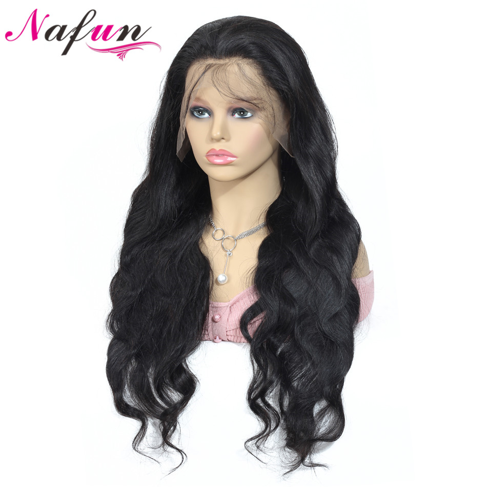 NAFU Body Weave 360 Lace Frontal Human Hair Wigs Remy Hair Pre Plucked Indian 360 Lace Wigs For Black Women Swiss Lace Wig