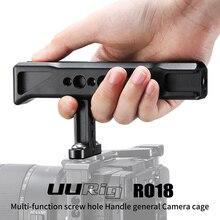 """UURig R018 נאט""""ו כללי שקופיות ידית עם 1/4 3/8 חוט חורים קר נעל הר עבור צג Sony ניקון מצלמות"""