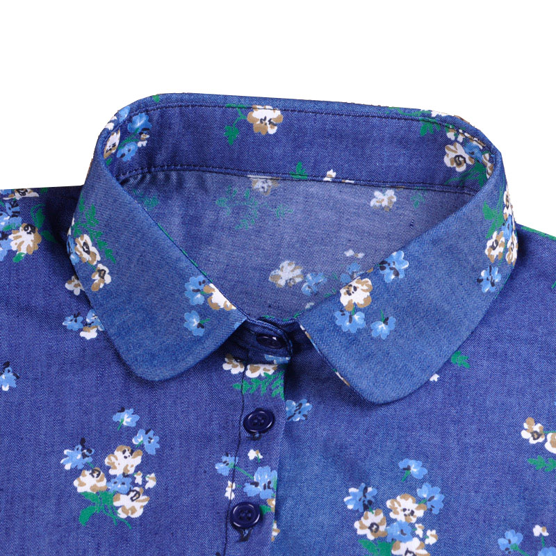 Print Detachable Collars For Women Tie Vintage Flower Fake Collar Lady Col Denim False Collar Shirt Lapel Blouse Top Women
