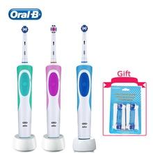 Oral B Tooth Brsush перезаряжаемая с таймером Водонепроницаемая звуковая + вращающаяся чистая зубная белая зубная головка для изменения различных видов
