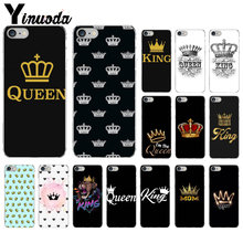 Yinuoda Crown King Queen Transparent TPU Soft Silicone Phone Case Cover for iPhone 8 7 6 6S Plus 5 5S SE XR X XS MAX Coque Shell(China)