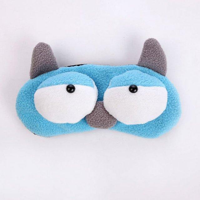 Korean Version Of Cute Cartoon Plush Big Eyes Sleep Eye Mask Rest Shading Eye Ice Pad Eye Mask Ice Mask 4