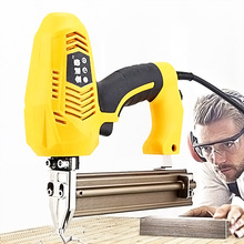 220V/240V Electric Staple Nail Gun 2300W Power Tool Cabinet Wallboard Nailing Woodworking Furniture Installation Nail Gun electric staple gun page 3