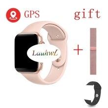 Bluetooth Вызов Смарт Браслет для проверки сердечного ритма 9 1:1 SmartWatch 44 мм с gps ДЛЯ Apple iOS Android сердечного ритма ЭКГ шагомер IWO 8 iwo 8 plus