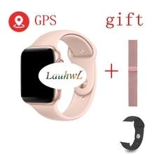 """שיחת Bluetooth חכם שעון IWO 9 1:1 SmartWatch 44mm עם GPS עבור Apple iOS אנדרואיד קצב לב אק""""ג מד צעדים IWO 8 iwo 8 בתוספת"""