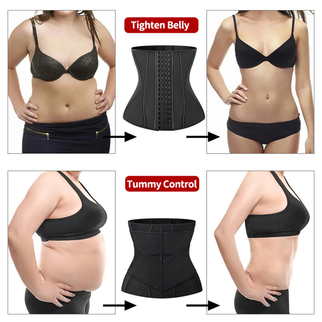 Women Slimming Sheath Waist Trainer Tummy Reducing Shapewear Belly Body Shapers Sweat Strips Sauna Corset Workout Trimmer Belts 5