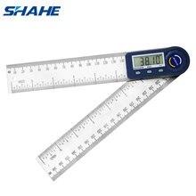 Shahe 0 200mm 7 דיגיטלי מד זוית זווית שליט אלקטרונים Goniometer מד זוית Inclinometer זווית מד מדידת כלים