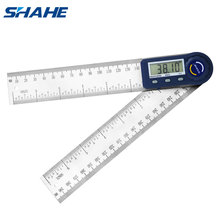 Shahe Regla de ángulo transportador Digital de 0 a 200mm, 7 pulgadas, goniómetro electrónico, transportador, inclinómetro, medidor de ángulo, herramientas de medición